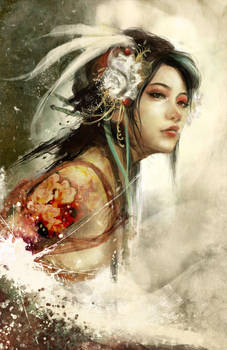 Flower snake by muju