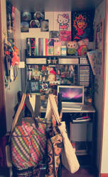 My Desk by CrazyKcee
