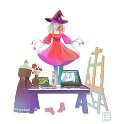 My Witchy Workspace by FloorSteinz