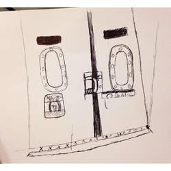 Subway sketch  by lonelyp00l