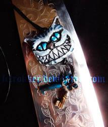 cheshire cat pendant. by felrokker