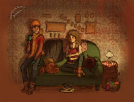 Ron and Hermione by SpeakThinkRegret