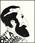 Sigmund Freud - Drawing by MAEDesign