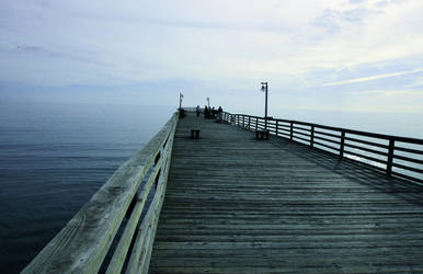 Blue pier by clippercarrillo