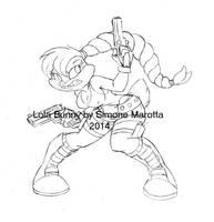 Lola Croft  sketch by simonesan