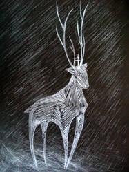 White deer by Hestia737