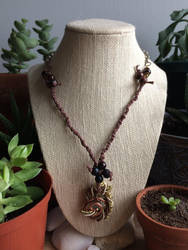 Wire wrapped hemp  chain fushion necklace  by seraphine