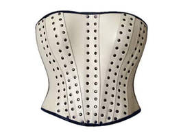 White riveted corset by Me-Se