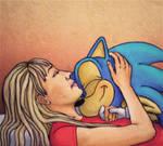 Sonic and Hannah Montana by alinaphobic