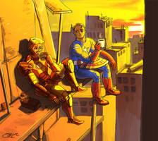 Captain America and Iron man by orientalowl
