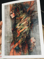 Free hand embellished print by lalalandofclouds