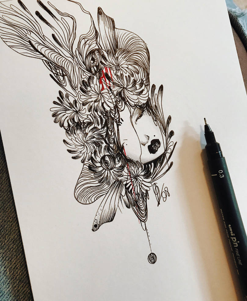 Inktober day 2  by lalalandofclouds