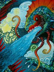 Midnight Firebreathing by AquaTigerFire