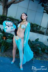 WC16 - Slave Leia Jasmine and Genie by BlizzardTerrak