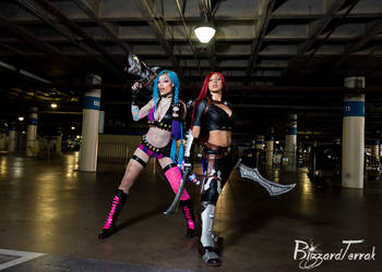 AX18 - Jinx and Katarina by BlizzardTerrak