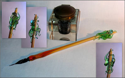 Cthulhu Glass Pen by Glasmagie