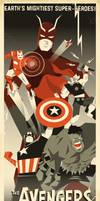 Art Deco Avengers by 2D-Assassin