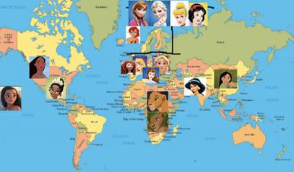 Disney Princess Continents By Oriana Jua On Deviantart