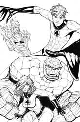 Fantastic Four inks by RyanStegman