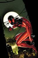 Scarlet Spider issue 3 cover by RyanStegman
