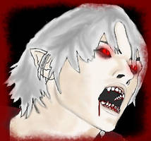 Vampire Nero Portrait by DanteVergilLoverAR