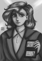 Scully WIP by Peccosa