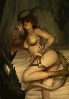 Dragon girl by SARYTH