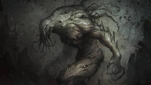 Deep sea creature by SARYTH