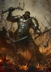 Dark warrior by SARYTH