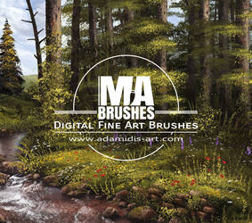 MA-Brushes MaxRealistic Photoshop Painting Brushes by MichaelAdamidisArt