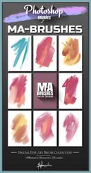 Photoshop Brushes -Oil Painting Texture Brush Pack by MichaelAdamidisArt