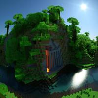 Octane_render_of_minecraft by davidbrinnen