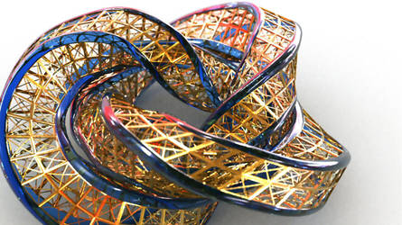 Wings 3D square section torus knot tut by davidbrinnen