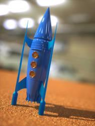 Retro rocket toy by davidbrinnen