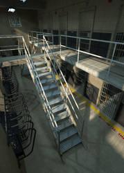 Prison Block K by davidbrinnen