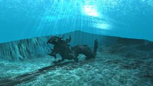 WIP Bryce underwater scene 23 by davidbrinnen