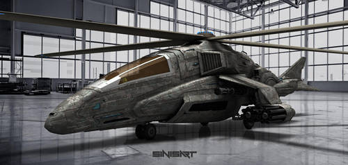 Concept helicopter by sinisart by Sinisart