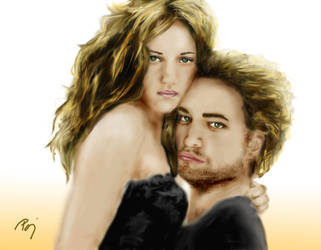 Bella and Edward by lilalo-art