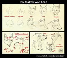 Wolf head tutorial by NatalieDeCorsair