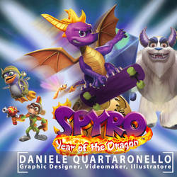 Spyro Year Of The Dragon PAL cover remake by danyq94