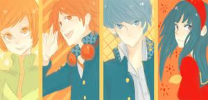 Persona 4 : Group pt 1 by Kite-Mitiko