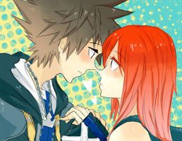 Kingdom Hearts : Sora+Kairi by Kite-Mitiko