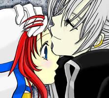 Abel x Esther Kiss by xXxArsenicxXx