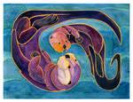 Otters by AmandaMyers