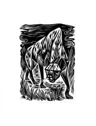 Prowling Hyena by AmandaMyers