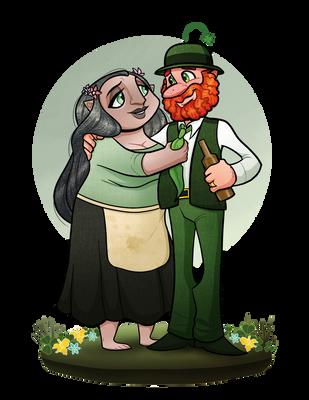 OC: Paddy and Sheela by Bubba-Buu