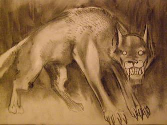 lobo envuelto en noche by MLinares