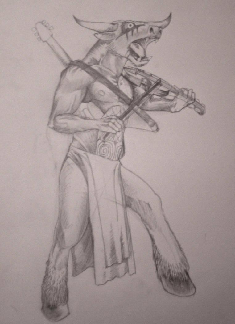 Minotauro y musica by MLinares