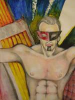 Heroe retrofuturista by MLinares