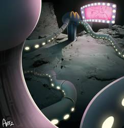 Inhabited comete concept by Aierz
